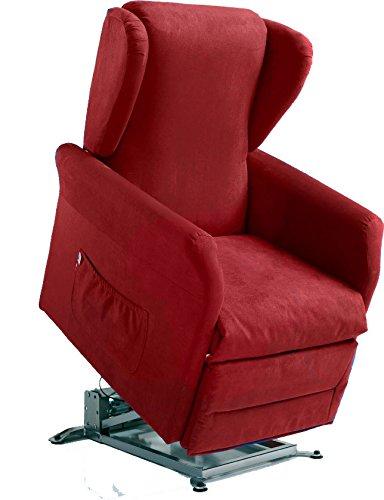 Global Relax Poltrone.Global Relax Anita Poltrona Lift Legno Rosso 92x74x101 Cm Manuale