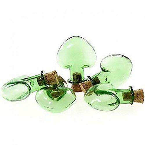 Kolben Grundierung aus Glas (Set 5Farbe Grün) Dimension: 28x 31,5mm