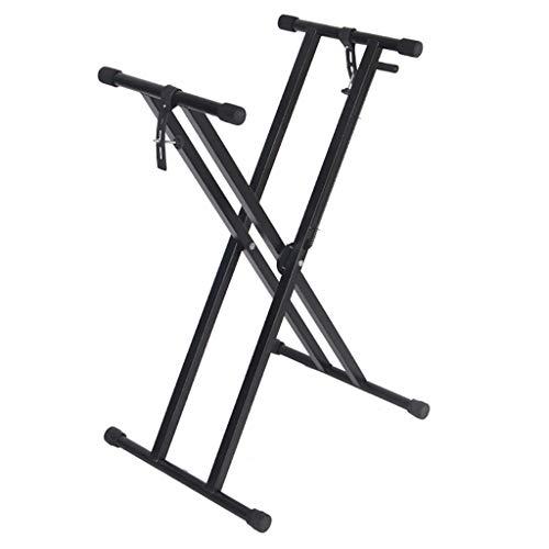 Notenständer Double Braced X Frame Keyboard Stand Mit Schaltgetriebe, Höhe 5-Gang Einstellbare 46-116cm, Belastung: 30kg