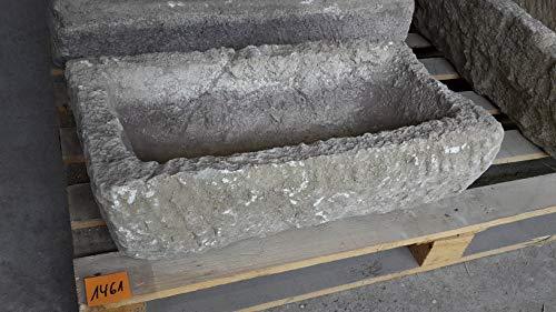 Der Naturstein Garten Alter Trog aus Granit 61 cm lang Brunnen Steintrog - G1461 Granittrog Waschbecken
