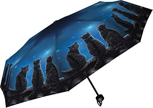 Nemesis Now Wish Upon a Star Lisa Parker - Paraguas (24 cm, plástico, Metal), Color Azul