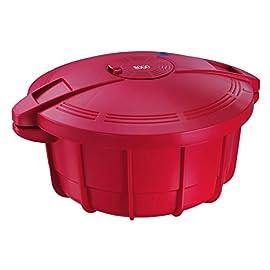 Sogo OLL-SS-10775 g-Pentola a Pressione per microonde, 3,2 l 30 Centimeters Rosso
