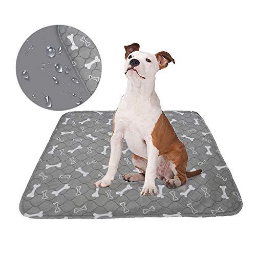 Roebii Waschbare Pee Pads Für Hunde,Wiederverwendbare Hundetraining-Knochenpads,Extra Saugfähige,wasserdichte Matte Für Haustiere,Schnell Saugendes Hundewelping-Pad,Weich Und Bequem -