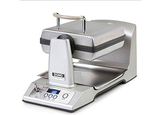 Automatica drehbares piastra per waffle doppia in acciaio inox + forcella–perfetto abbronzato waffle belgi.