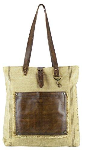 Sunsa Vintage Taschen , Sac pour femme à porter à l'épaule Marron Marron