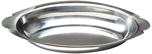 Winco ADO-15 Stainless Steel Oval Au Gratin Dish, 15-Ounce Au Gratin Dish