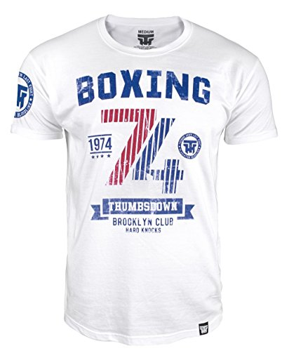 Boxing T-shirt. Thumbs Down Boxing Club. Brooklyn Club. Hard Knocks. Heavyweight Champion. Boxen Kampfsport. MMA T-shirt (Größe Medium)
