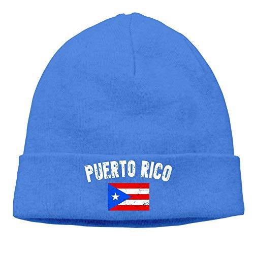 Hat New SHBOR Faded Puerto Rico Flag Beanies Cap Black -