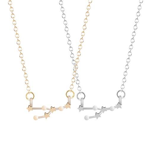 2pcs-new-fashion-gold-silver-taurus-zodiac-sign-astrology-constellation-pendent-collar-chocker-neckl