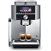 Siemens TI909701HC Independiente Máquina espresso Negro, Acero inoxidable - Cafetera (Independiente, Máquina espresso, Granos de café, Molinillo integrado, Negro, Acero inoxidable)