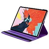 doupi Deluxe Schutzhülle für iPad Pro 12,9 Zoll (2018), Smart Case Sleep/Wake Funktion 360 Grad drehbar Schutz Hülle Ständer Cover Tasche, lila