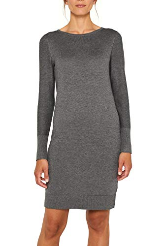 ESPRIT Damen 089Ee1E001 Kleid, Grau (Dark Grey 5 024), X-Large (Herstellergröße: XL)