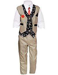 ahhaaaa Boy's Blended Waistcoat, Shirt and Trouser Set