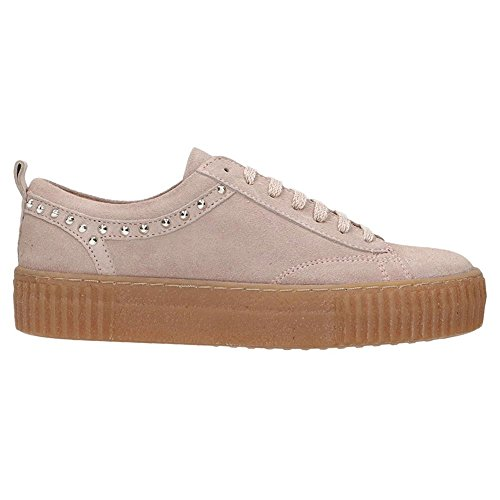 Bronx Womens 65632-A Platform Pink Suede Shoes 37 EU