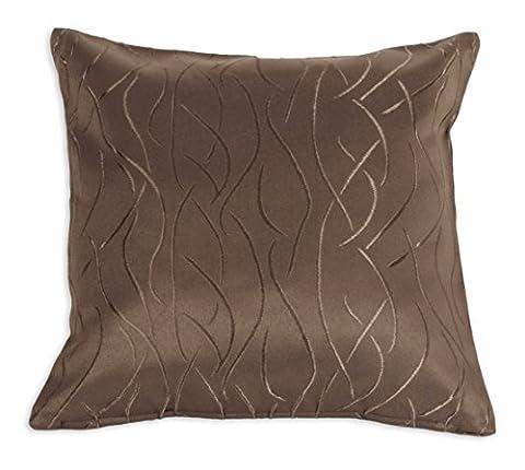 Pillow Case Cotton Damask Stripe 40x 40, 50x 50cm Cushion Deco Modern 40 x 40 cm dark brown