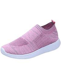 3ccf96a3 BaZhaHei-Zapatillas Zapatillas de Mujer Deporte Planas de Malla  Transpirable Zapatos Casuales de Zapatos de