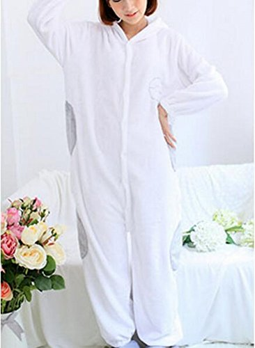 Frauen 'S Adult Pyjamas Cosplay Tier Kostüm Winter Verdickung Freizeitbekleidung,Weiß,M (161-170) (Koala Bär Hund Kostüm)