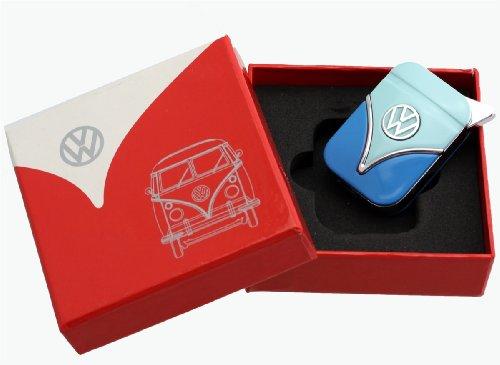 Volkswagen Originale accendino nella progettazione scudo anteriore - in diversi colori - Gift Set (VW-Bulli-azzurro-blu)