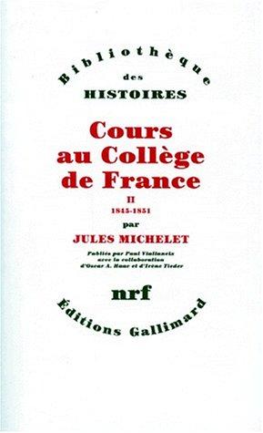 Cours au collège de France, tome 2