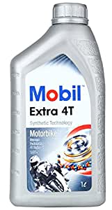 Mobil Extra 4T 10W-40 Semi Synthetic Motorcycle Oil (1 L)