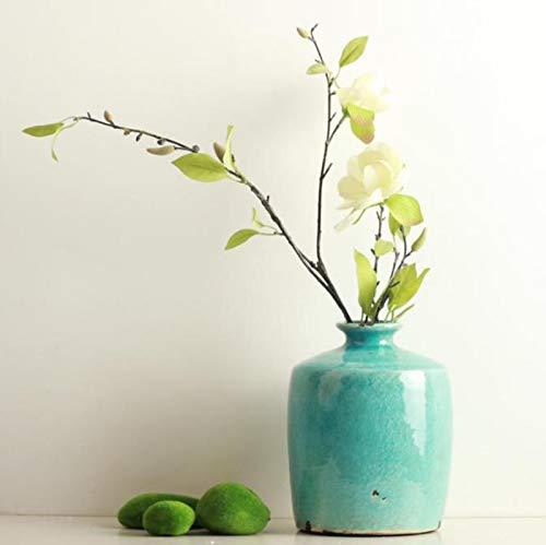 ZYJ Retro Keramikvase, mediterrane EIS rissige Boden Keramik große Vase Vintage alte Blume