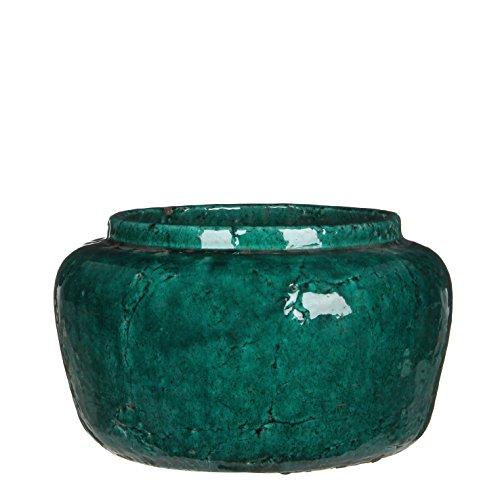 Mica Decorations 119550 Pot Ronde Karl H19.5d31.5 Vert