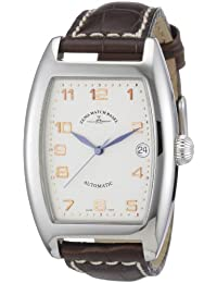 Zeno Watch Basel Men's Automatic Watch Tonneau OS 8080-f2 with Leather Strap