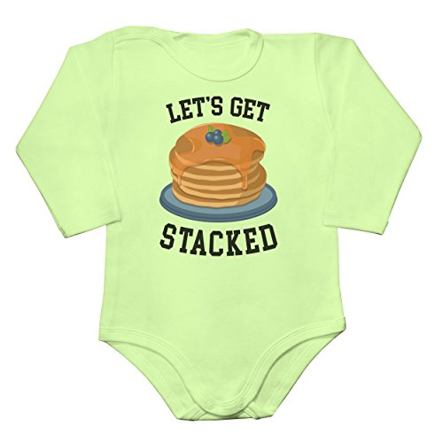 Let's Get Stacked Fluffy American Pancakes Baby Long Sleeve Romper Bodysuit Babyspielanzug Extra Small -