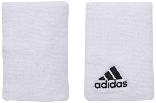 Adidas - Muñequeras Infantiles Talla S Blanco Blanco/Negro