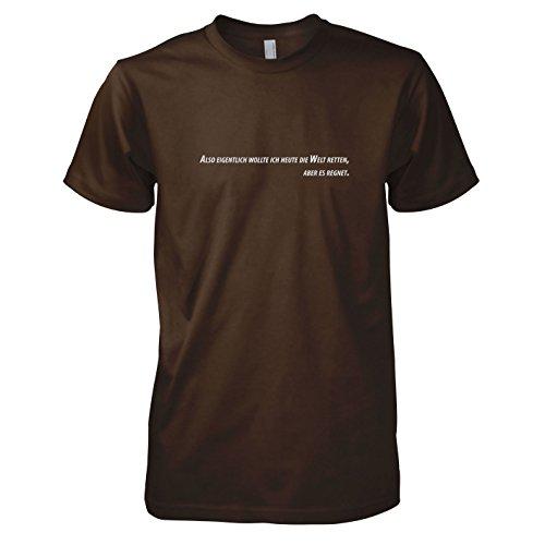TEXLAB - Es regnet - Herren T-Shirt Braun