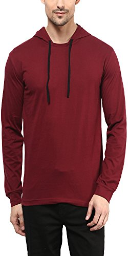 Unisopent Designs Men's Cotton T-Shirt/Hooded T-Shirt/Full Sleeves T-Shirt/Hooded Sweatshirt/Pullover Jacket with Ribbed Cuffs  available at amazon for Rs.349