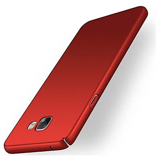"WOW Imagine(TM) All Sides Protection ""360 Degree"" Sleek Rubberised Matte Hard Case Back Cover For SAMSUNG GALAXY J7 PRIME - Maroon Wine Red"