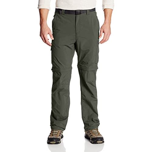 41EKFjeT6qL. SS500  - Columbia Men's Silver Ridge Convertible Pants - Gravel, W32/L34