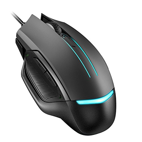 Holife Gaming Mouse, 117 programmierbare Maus 3200 DPI Mouse Game Optical Gaming Mouse 4 DPI Stufen mit 6 Tasten/7 wechselnden LED Farben/Ergonomisches Design/1.6M USB Kabel
