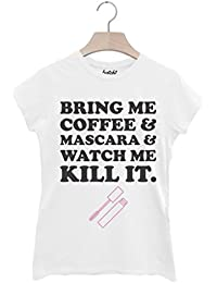 Batch1 'Bring Me Coffee and Mascara' Women's T-Shirt Feminist Fashion Slogan Tee
