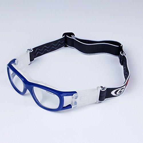 fussball sportbrille EnzoDate Kinder-Basketball-Brille für jungen & Mädchen, klar, Objektiv Teenager Sportbrille Schutzbrille Fußball (Marine)