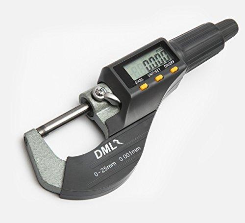 Digitale Bügelmessschraube 0-25mm / 0,001mm (AK9635D) Mikrometer Messschieber Test