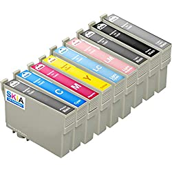 Pack de 9 Skia Cartouches d'encre Epson Stylus Photo R 2880 T 0961 0962 0963 0964 0965 0966 0967 0968 0969