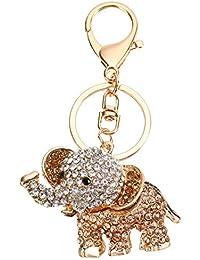 Leisial Portachiavi in Metallo Elegante Ciondolo Chiave da Donna per Uomo Regalo Creativo Anello Portachiavi Auto