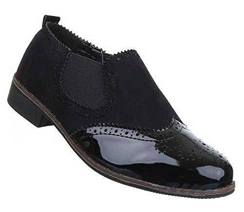As Mulheres Sapatos Baixos Sapatos Esticar Sapatos Chinelo Preto