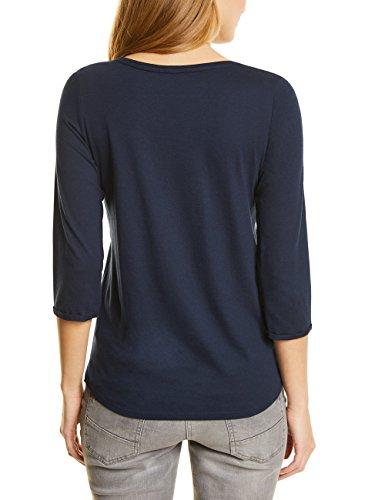 Cecil Damen Langarmshirt Blau (Deep Blue 20128)