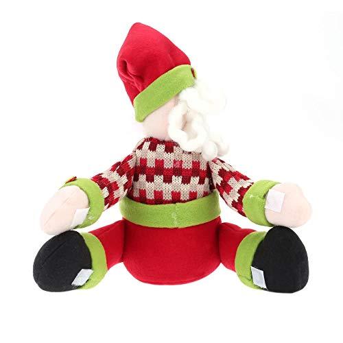 Tianzhiyi Weihnachtsdekoration Weihnachtsmann Flaschenhalter, Weihnachten Schneemann Weinflasche Handtuchhalter Spielzeug Puppe Geschenk Home Party Tisch Dekor Ornamente (Size : 1) -