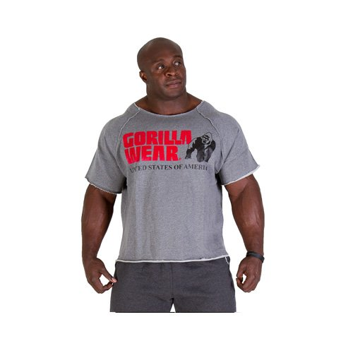 Gorilla Wear USA Classic Workout Top oldschool Rag Top-Grey Melange-S/M