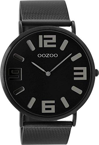 Oozoo Vintage Damenuhr Metallband 42 MM Black/Schwarz/Schwarz C8884