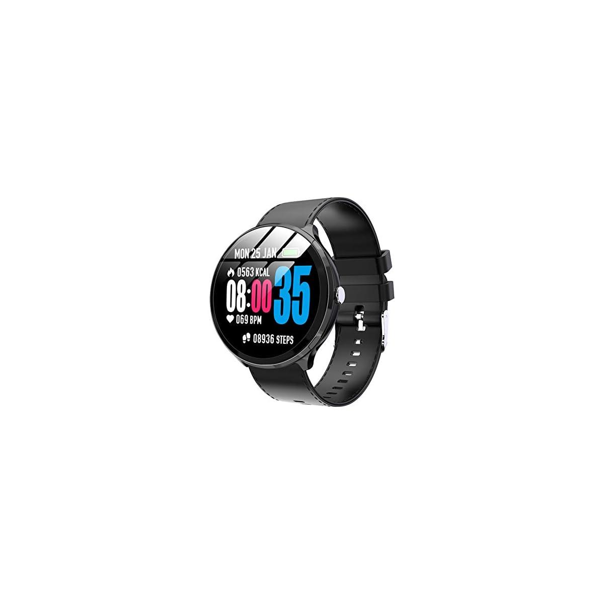 41EKK8Z6kdL. SS1200  - SYYSYY Avanzado Reloj Deportivo Reloj Inteligente Reloj para Hombres 1.3 '' Pantalla Bluetooth 4.0 Pulsera de Fitness Monitor de Ritmo cardíaco Reloj Impermeable Reloj de Pulsera