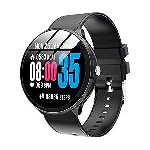 SYYSYY Avanzado Reloj Deportivo Reloj Inteligente Reloj para Hombres 1.3 » Pantalla Bluetooth 4.0 Pulsera de Fitness Monitor de Ritmo cardíaco Reloj Impermeable Reloj de Pulsera