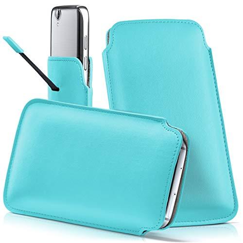 moex Acer Liquid Z630S | Hülle Türkis Sleeve Slide Cover Ultra-Slim Schutzhülle Dünn Handyhülle für Acer Liquid Z630S Case Full Body Handytasche Kunst-Leder Tasche