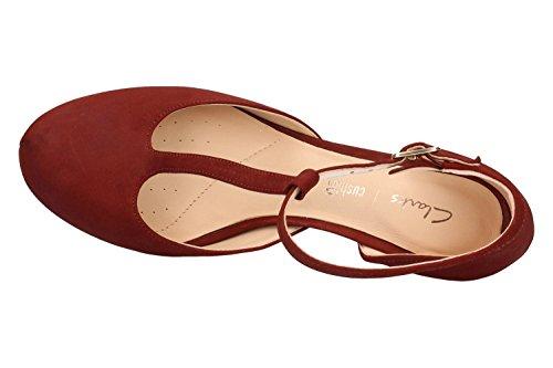 Clarks Scarpe 26.132.290 Dahlia Tulip granate Rosso