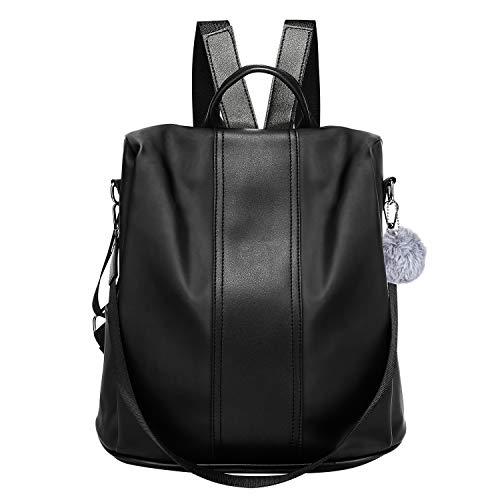 lifeasy Women Backpack, Shoulder Bag Anti-theft Water-resistant Lightweight Shopping Travel School Daypack Zaino Casual, 31 cm, 35 liters, Nero (Black)