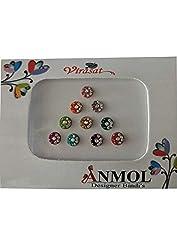 Anmol Virasat Small Size Round Multicolored Bindi